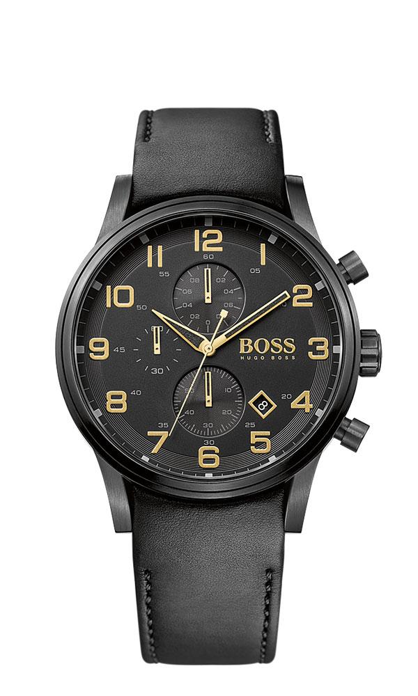 boss reloj hombre aeroliner black gold collection. Black Bedroom Furniture Sets. Home Design Ideas