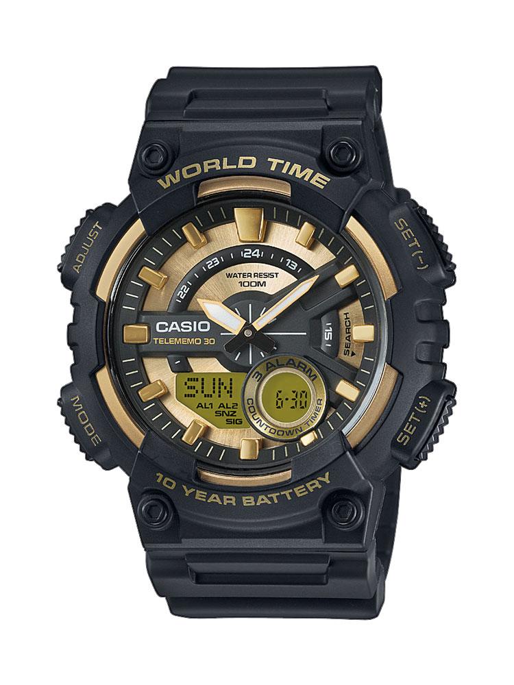 Casio Schwarz Gold