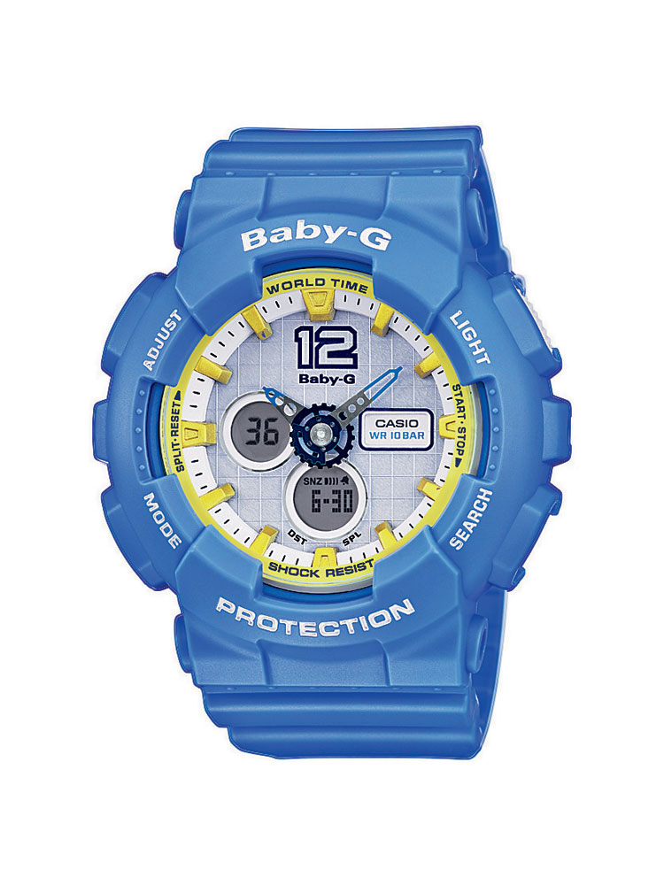 casio baby g uhr ba 120 2ber analog digital hellblau ebay. Black Bedroom Furniture Sets. Home Design Ideas