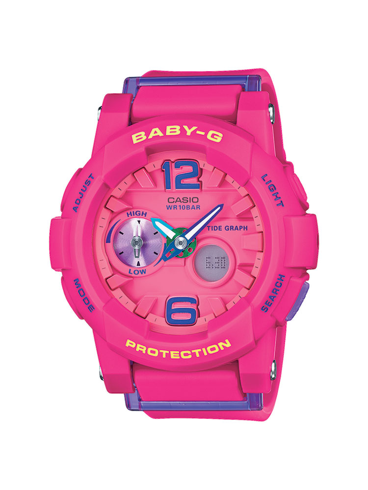 casio baby g uhr bga 180 4b3er analog digital pink ebay. Black Bedroom Furniture Sets. Home Design Ideas