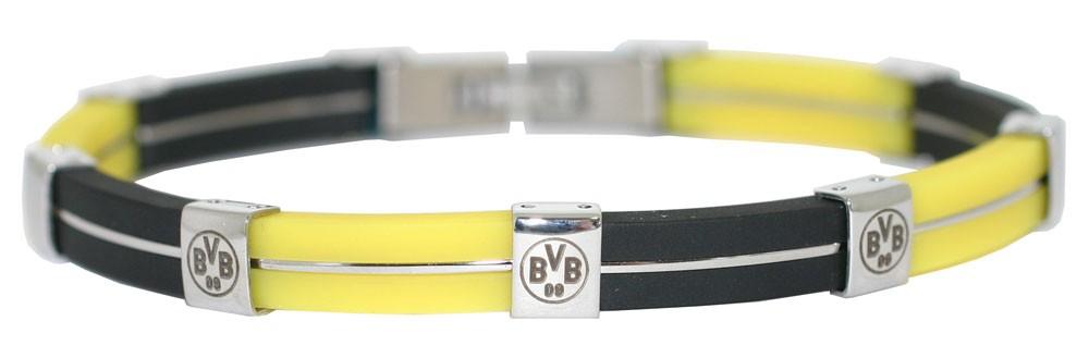 im Angebot aabc0 80521 Borussia Dortmund Edelstahl Kautschuk Armband BVB 09 ...