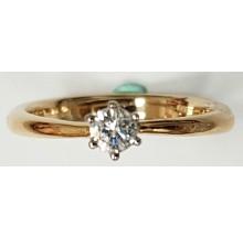 Damenring aus 585/- Rosegold mit Brillant 310817tif17rose