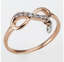 Damenring unendlich Rosegold 1-06307-56-0089