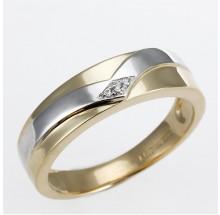 Damenring aus 585/- Gold bicolor mit Brillanten 1-07241-51-0089