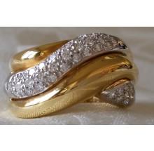 Damenring aus Gold mit Brillanten A2275