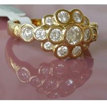 Damenring aus Gold mit Brillanten 31702