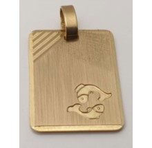 Sternzeichen Fische Anhänger aus Gold 333/-  -06.1495.03-fi