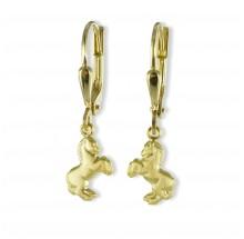 Goldene Kinder Ohrhänger Pferde 3504