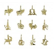 Goldener Anhänger Sternzeichen Zwilling 3561ZW