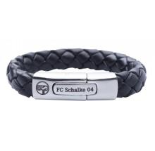 FC Schalke 04 Leder Armband geflochten S04 26843 69400036