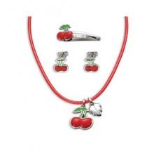 Esprit Mädchen Halskette, Ohrstecker und Haarspange very cherry set Kirschen 4263200