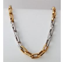 Damenkette bicolor aus 585/- Gelbgold & Weißgold 64-85500-3