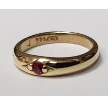 Taufanhänger Taufring aus 333/- Gold 48-04224-rot