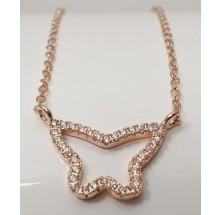 Damen Halskette mit Schmetterling-Anhänger butterfly 925/- Silber 157-182-r