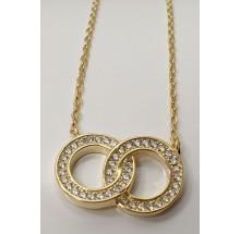 Damen Halskette mit verschlungenen Ringen  925/- Silber 157-78-g