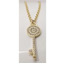 Damen Halskette mit Schlüssel 925/- Silber 157-117-g