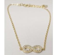 Damen Armband mit unendlich 8 aus Silber mit Zirkonia Steinen 157-61-g