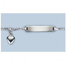 ID-Bändchen Gravur Herz Silber 925/- 5.56069-75-14cm