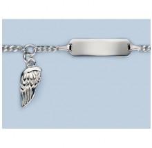 ID-Bändchen Gravur Flügel Silber 925/- 5.560691-98-16cm