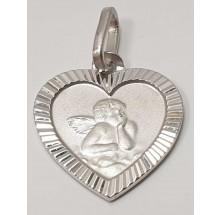 Anhänger Gravurplatte Engel Schutzengel 925/- Silber 346-111121.298