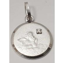 Anhänger Gravurplatte Engel Schutzengel 925/- Silber 207-37519-12-024-10