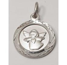 Anhänger Gravurplatte Engel Schutzengel 925/- Silber 207-42673-12-41837