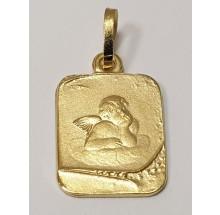 Taufe - Anhänger Gravurplatte Schutzengel 333/- Gold 207-37583-12-024-00
