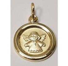 Taufe - Anhänger Gravurplatte Schutzengel 333/- Gold 207-39595-12-41838g