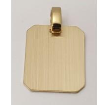 Anhänger Gravurplatte schlicht - matt 585/- Gold - 207-42353-16-599-81
