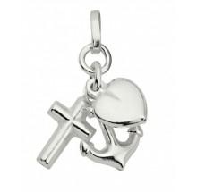 Glaube-Liebe-Hoffnung Anhänger aus Silber 5-127461-001