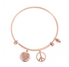 Coco88 Damen Armreif Sense Collection 8CB-10007 Peace+Herz