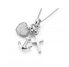 Giorgio Martello Damen Halskette Glaube-Liebe-Hoffnung 925/- Silber 910019450