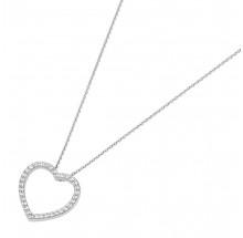 Giorgio Martello Damen Herz Kette aus 925/- Silber 912839450