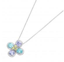Giorgio Martello Damen Kette Blüte aus 925/- Silber 913359450