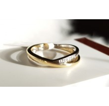 Goldener Damen Brillantring bicolor 920014R-56