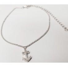 Damen Fußkettchen Anker Silber 92006893280
