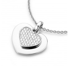 Damen Halskette mit Herz Anhänger 925/- Silber 99009593450