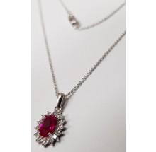 Damen Halskette mit Anhänger 925/- Silber 99014893450