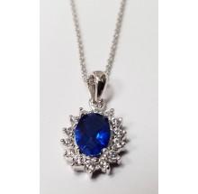 Damen Halskette mit Anhänger 925/- Silber 99014993450
