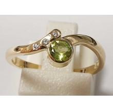 Damenring aus 585/- Gold Solitär Ring mit Peridot B44019