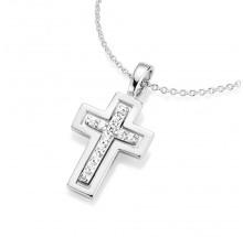 Damen Collier Kreuz 925/- Silber 99006493450