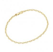 Armband Stegankerkette 585/- Gelbgold 92016350190