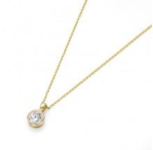 Damen Halskette mit Anhänger 375/- Gelbgold 99012040450