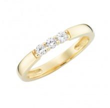 Damenring aus 375/- Gold Ring mit Zirkonia 93011840580