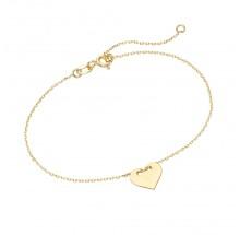 Armband Herz Ankerkette 375/- Gelbgold 92013940190