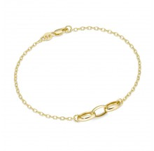 Armband Ankerkette aus 375/- Gelbgold 92005140190