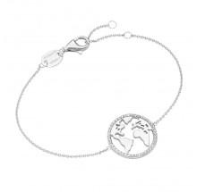 Giorgio Martello Damen Armband Weltkarte 925/- Silber 205299190