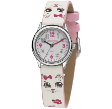 Jacques Farel Basic Kinderuhr Katze HCC561