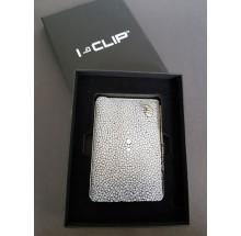 I-CLIP Geldbörse blau Rochenleder ICROblau