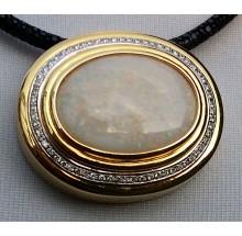 Opalanhänger aus 750/- Gelbgold  mit Brillianten Best. Nr.  opal150417